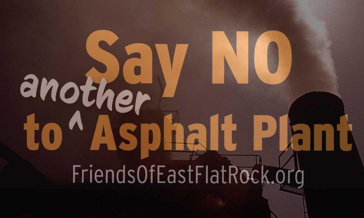Say NO to SE Asphalt's plant